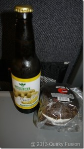 Green Bee Ginger Buzz Soda and a whoopie pie.