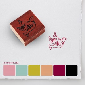 One of the beautiful stamps in the special edition Martha Stewart/Warriors in Pink stamp collection, Photo Courtesy of Ford Cares