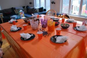 Halloween Birthday Table
