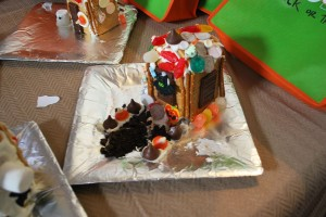 Halloween Birthday Gingerbread Houses