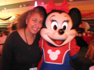 Minnie and I (in the funky lighting)