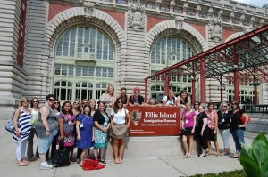 Group shot at Ellis Island. Photo courtesy of Ketchum
