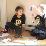 Halloween HEXBUGs Crash Our Boston Bruins Birthday Party!