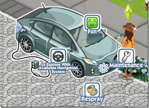 Toyota Prius Plug-in Hybrid in Sims Social