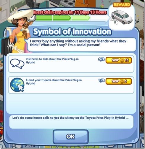 Sims Social Symbol of Innovation Task