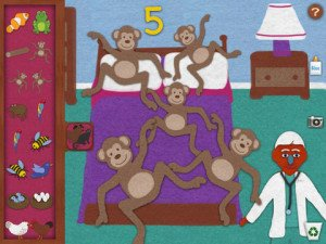 5 Little Monkeys on the Felt Pad