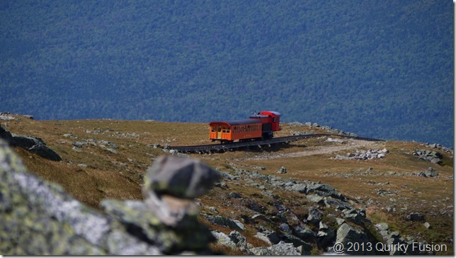 Cog railway descends Mount Washington