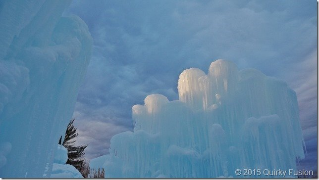 Ice Castle, Lincoln, NH at Sunset