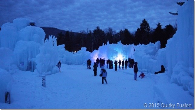 Ice Castle, Lincoln, NH at Night
