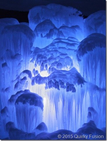 Glowing Ice Castle