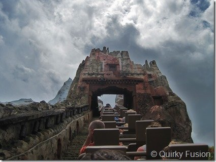 A View from the Everest Roller Coaster, Animal Kingdom, Disney World