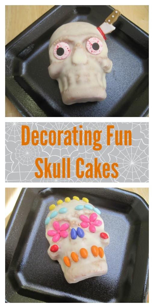 Skull Cakes for Halloween