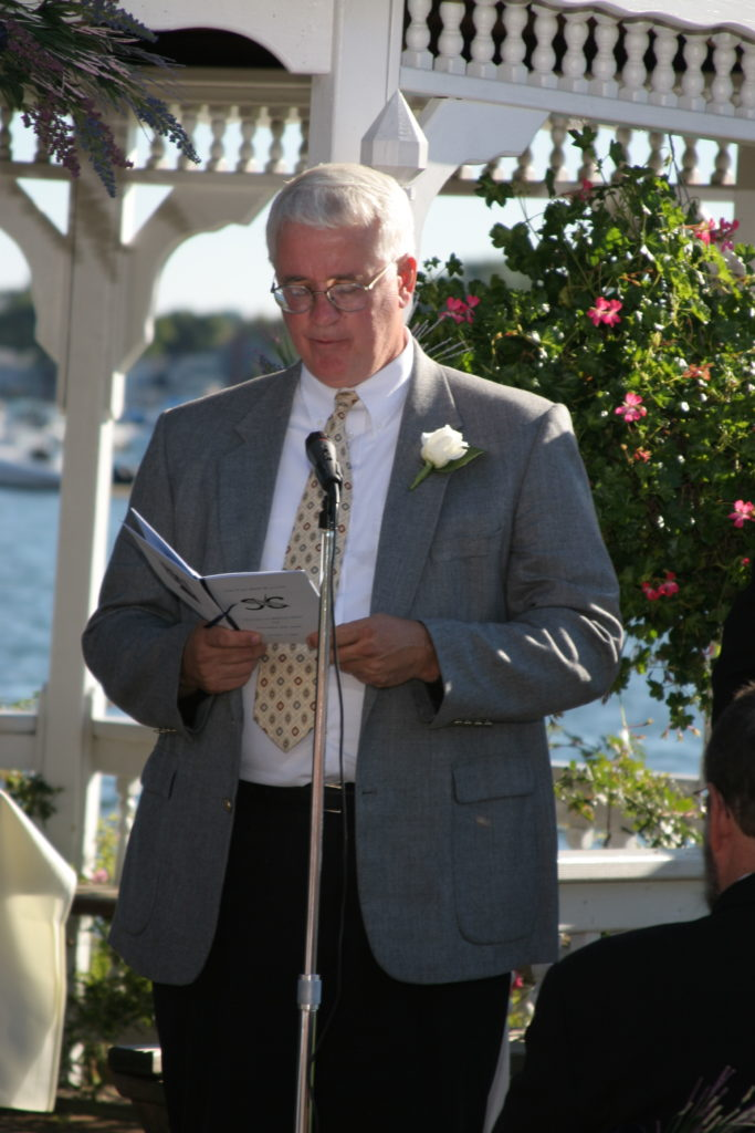 My uncle doing a reading at our wedding.